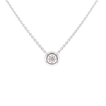 Bezel Style Diamond Pendant in white gold