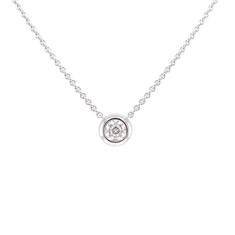 Bryan Beauties Bezel Style Diamond Pendant in whitegold