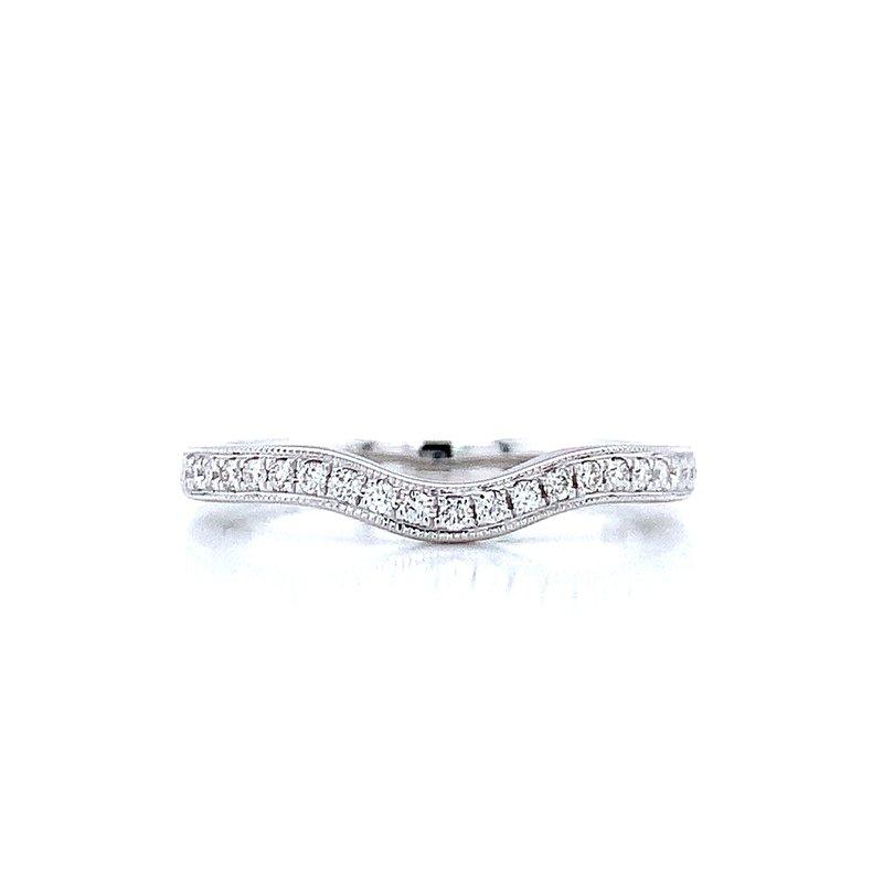 Ostbye Curved Diamond Wedding Band