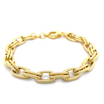 Double Oval Link - Yellow Vermeil