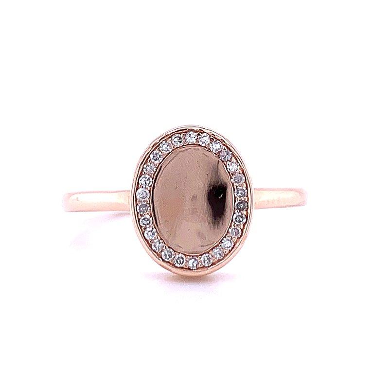 Bryan Beauties Blush & Sparkle Signet Ring