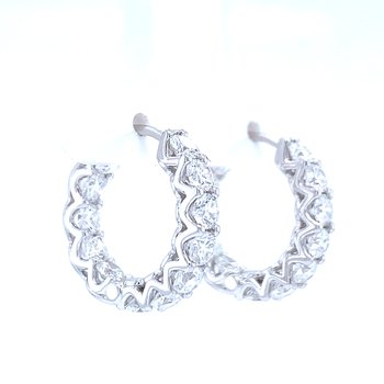3ctw Diamond Hoops