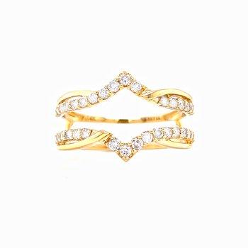 Yellow Gold Ring Guard