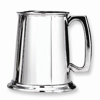 Glass Bottom Pewter Tankard