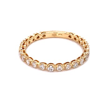 From here to Eternity Diamond Band in 14k yellow