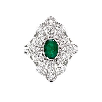 Laced with Diamonds Emerald Ring