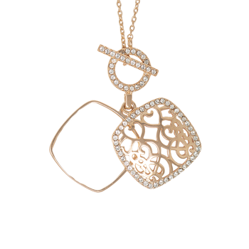 Amelia Toggle Locket in rose
