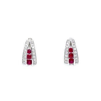 Ruby & Diamond Huggers