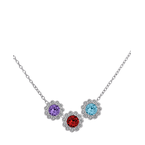 With You Mother's Birthstone Slide Pendants