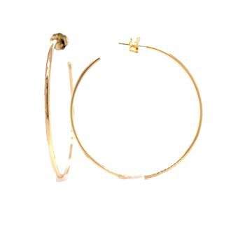 Gold Hoop Earrings - 40mm with backs