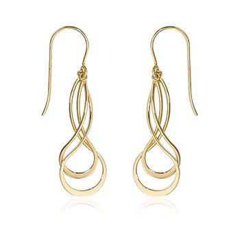 Double Infinity Dangle Earring