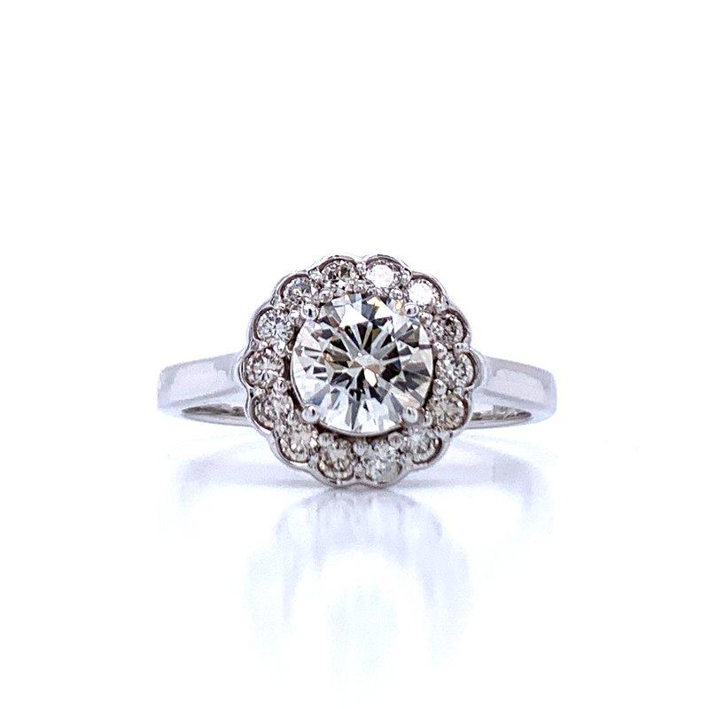 Bryan Beauties Diamond Halo Engagement Ring