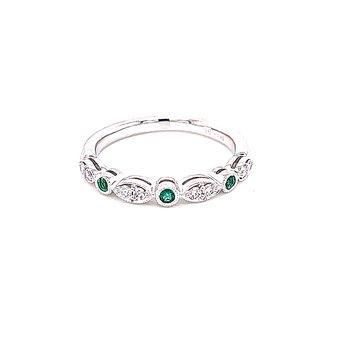 Emerald & Diamond Stackable