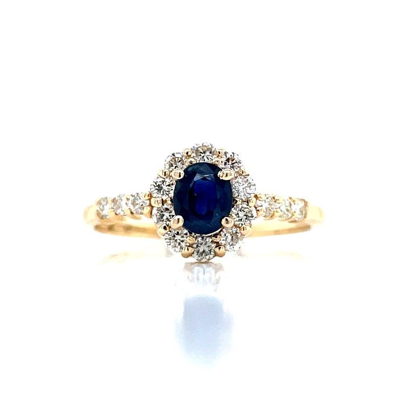 Bryan Beauties Sapphire & Diamond Halo Ring in 14ky