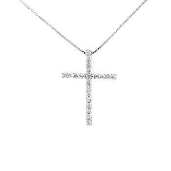 Dazzling Diamond Cross Pendant