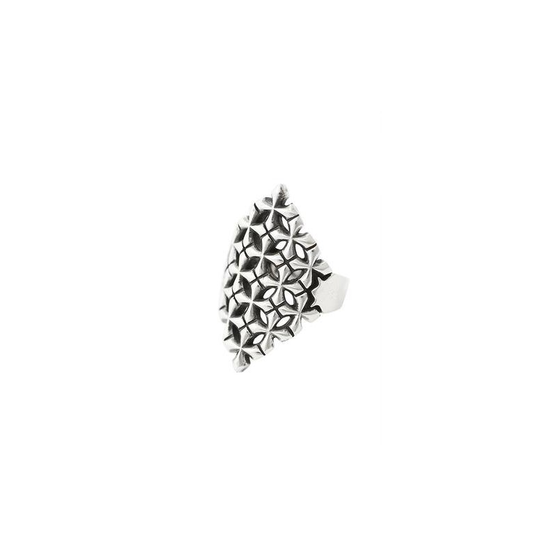 King Baby MB Cross Pattern Shield Ring