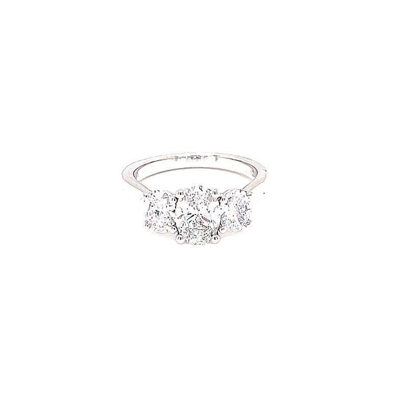 Bryan Beauties Three Stone Oval Diamond Ring
