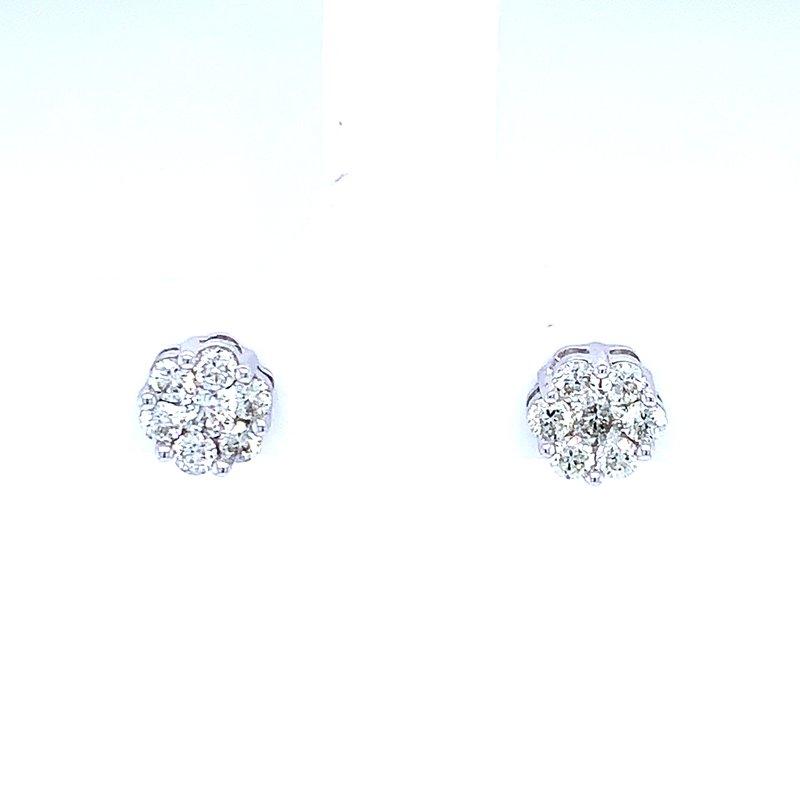 Bryan Beauties Flower Cluster Earrings 1/2ctw 10kw
