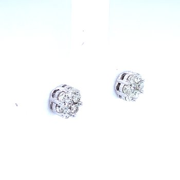Flower Cluster Earrings 1/2ctw 10kw