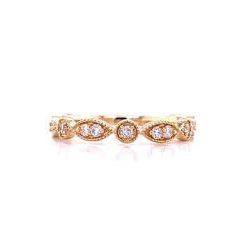 Yellow Gold and Diamond Stackable