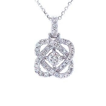 Love's Crossing Diamond Pendant-1/2ctw