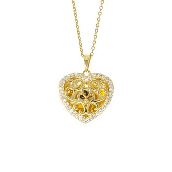 Mary Locket Necklace in yellow