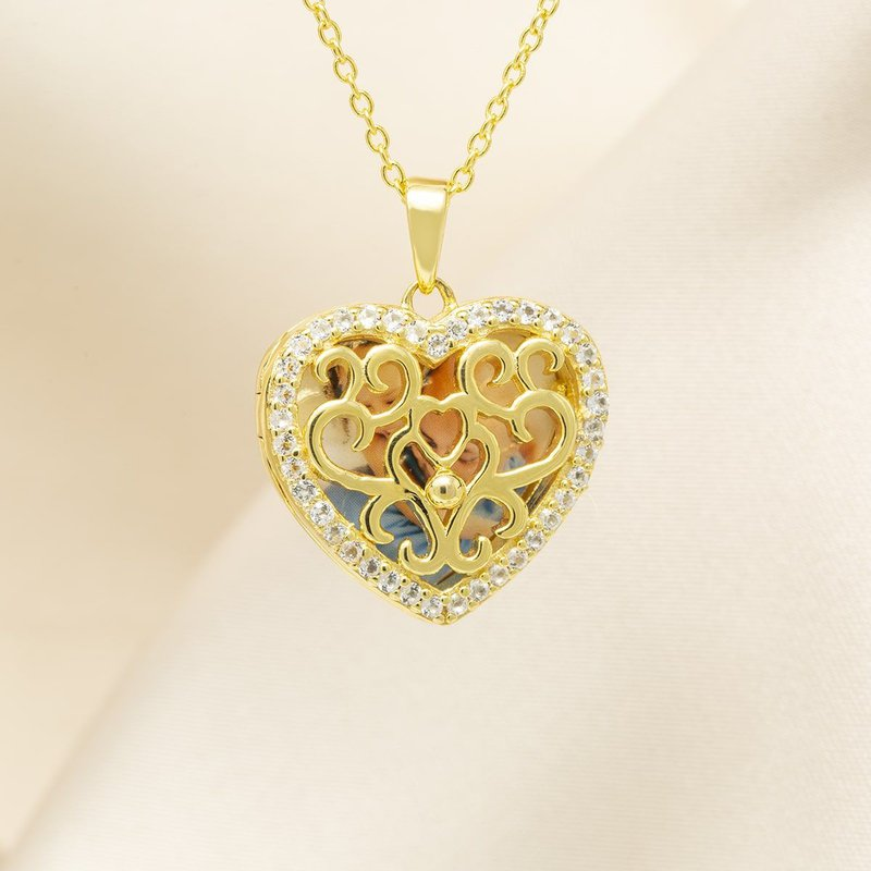 With You Mary Locket Necklace in yellow