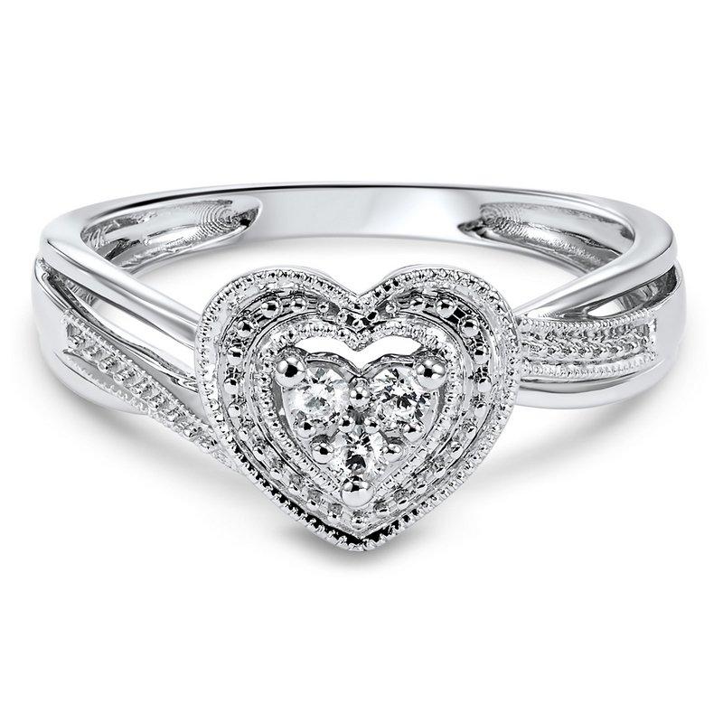 Bryan Beauties Heart Shaped Ring with Diamonds