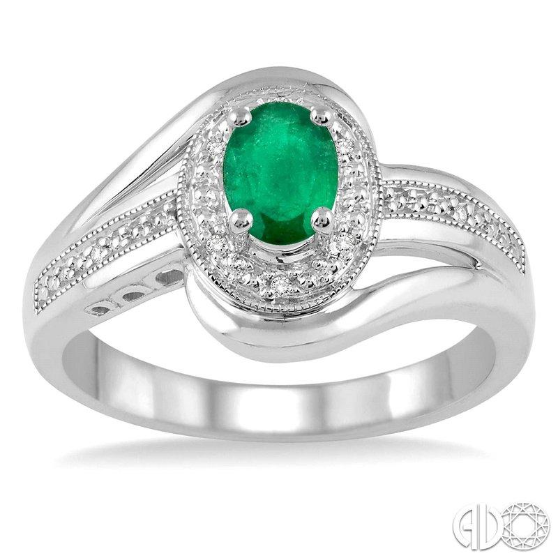 Bryan Beauties Emerald and Diamond Ring