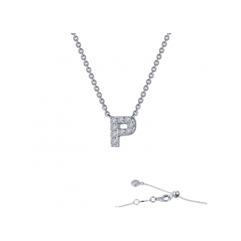 """""""P"""" Initial Necklace"""