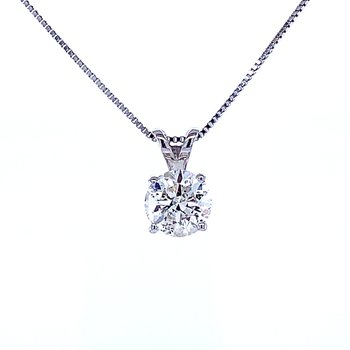 Solitaire Diamond Pendant 3/4ct