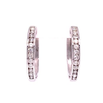 Diamond Hoop Earrings-25mm