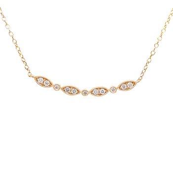 Lovely Contoured Diamond Necklace-10ky