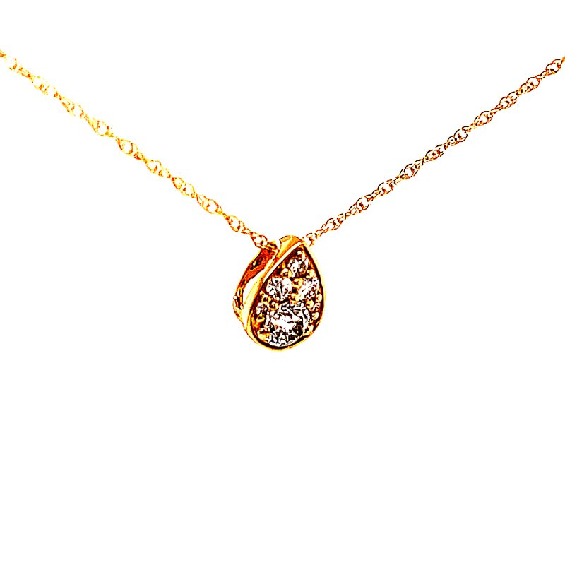 Bryan Beauties  Diamond Delight Pear Shaped Cluster Pendant