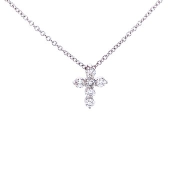 Petite Diamond Cross Pendant-1/4ctw