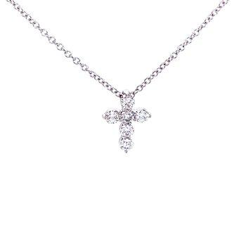 Petite Diamond Cross Pendant-1/4ctw