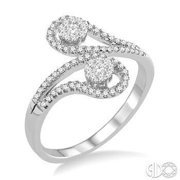 Paisley Swirls Lovebright Diamond Ring