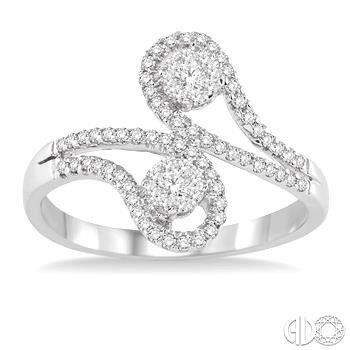 Paisley Swirls Lovebright Diamond Ring
