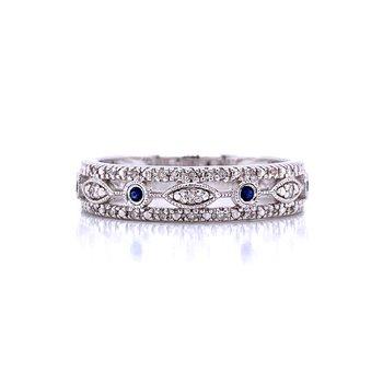 Vintage Style Sapphire & Diamond Band