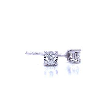 Tru-reflections Diamond Studs in 1/10ctw