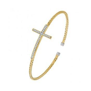 Charles Garnier Sideways Cross Bracelet