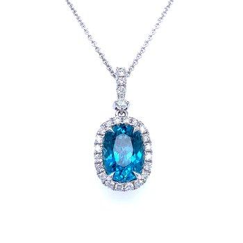 Absolutely Stunning Blue Zircon Pendant
