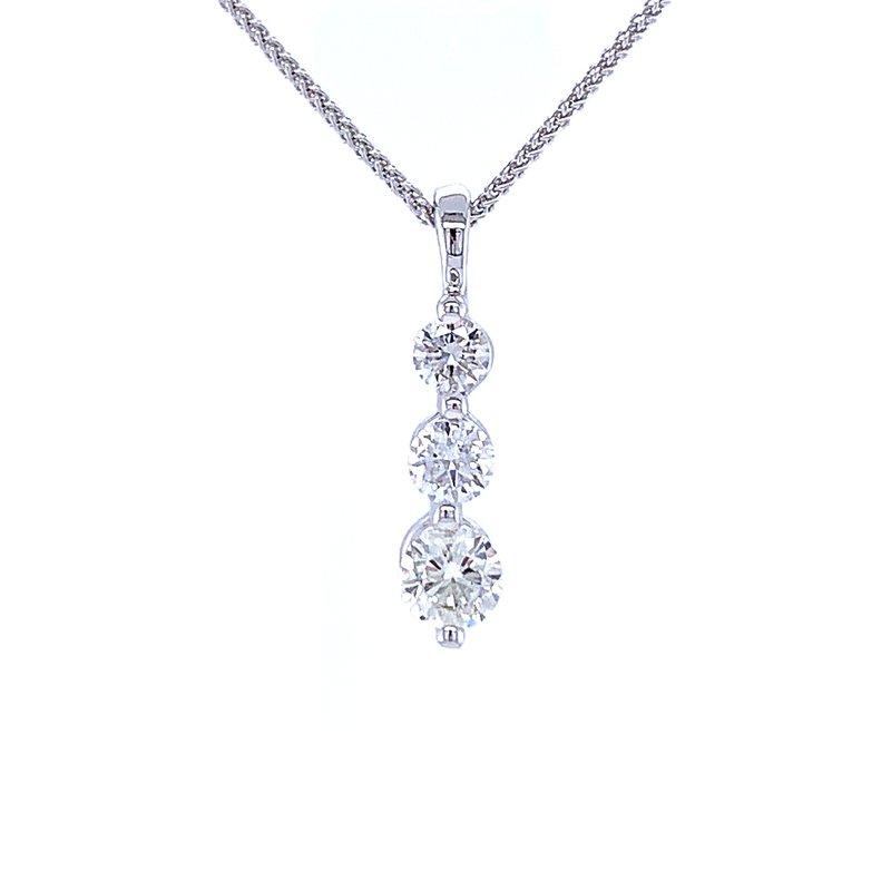 Bryan Beauties Three Stone Diamond Drop Pendant