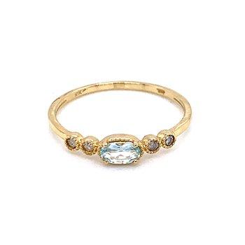 Sideways Aquamarine Ring
