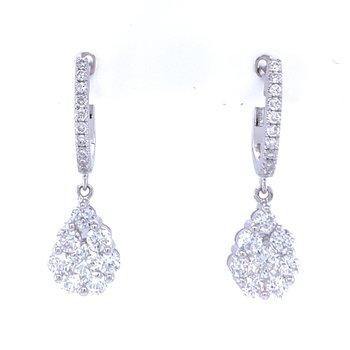 Pear Shaped Dangle Earrings