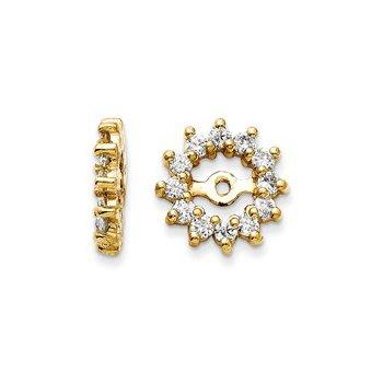1/2ctw Earring Jackets-14ky