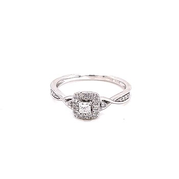 Ribbons of Love Princess Cut Diamond Ring