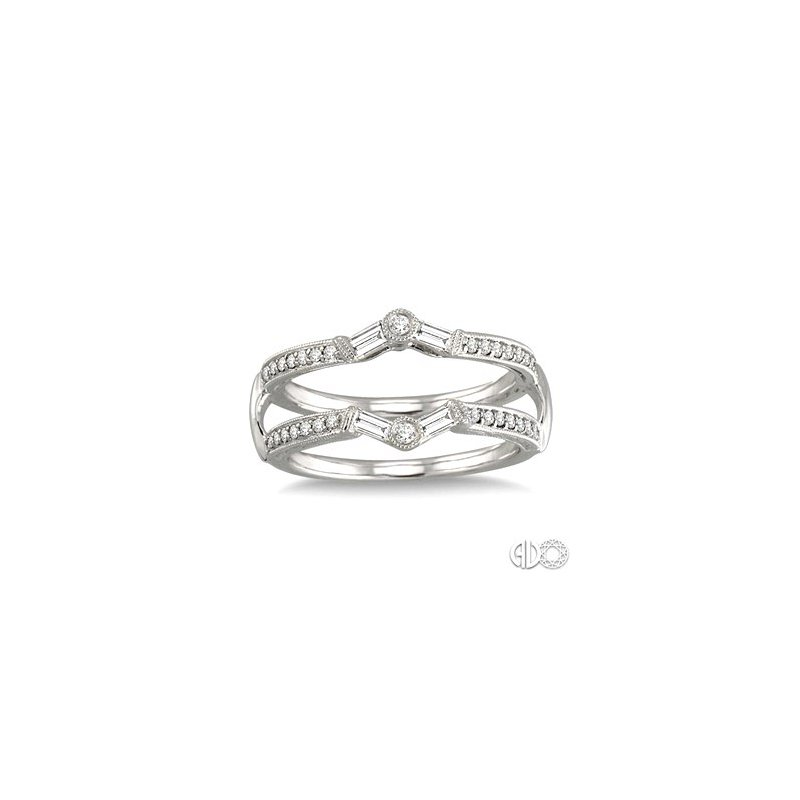 Bryan Beauties Diamond Ring Guard with Round & Baguette Diamonds