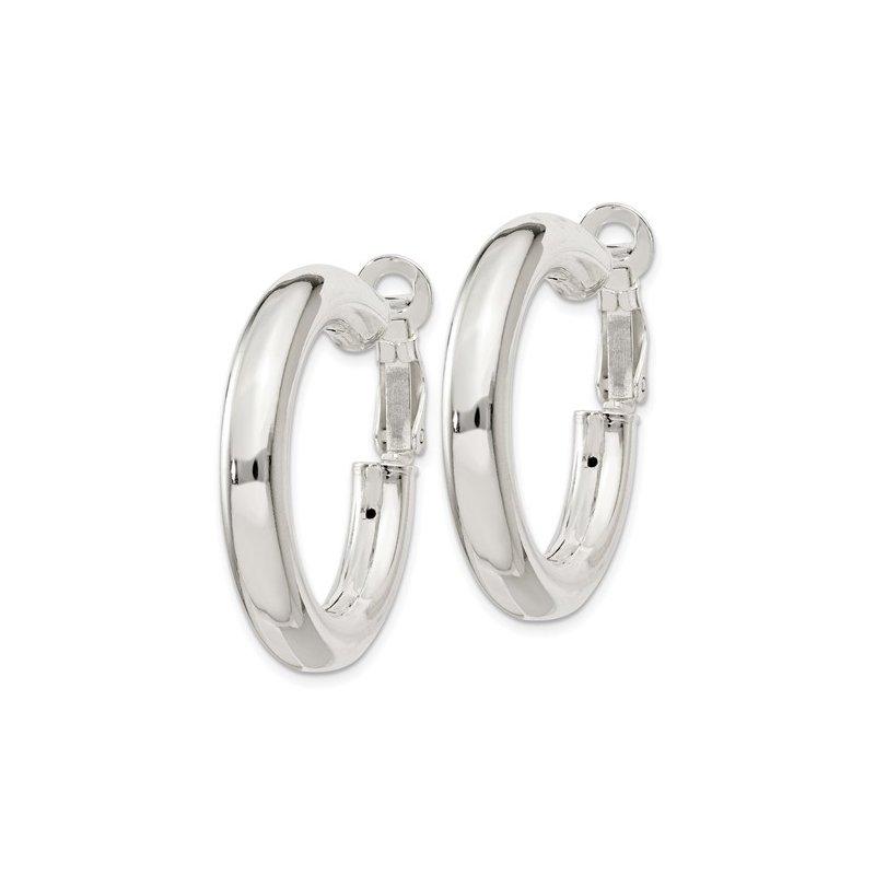 Bryan Beauties Silver Hoop Earrings with Omega Backs