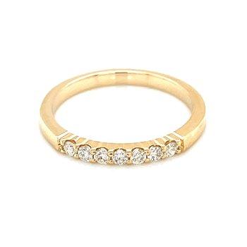 7 Diamond Shared Prong Band 1/5ctw 14ky